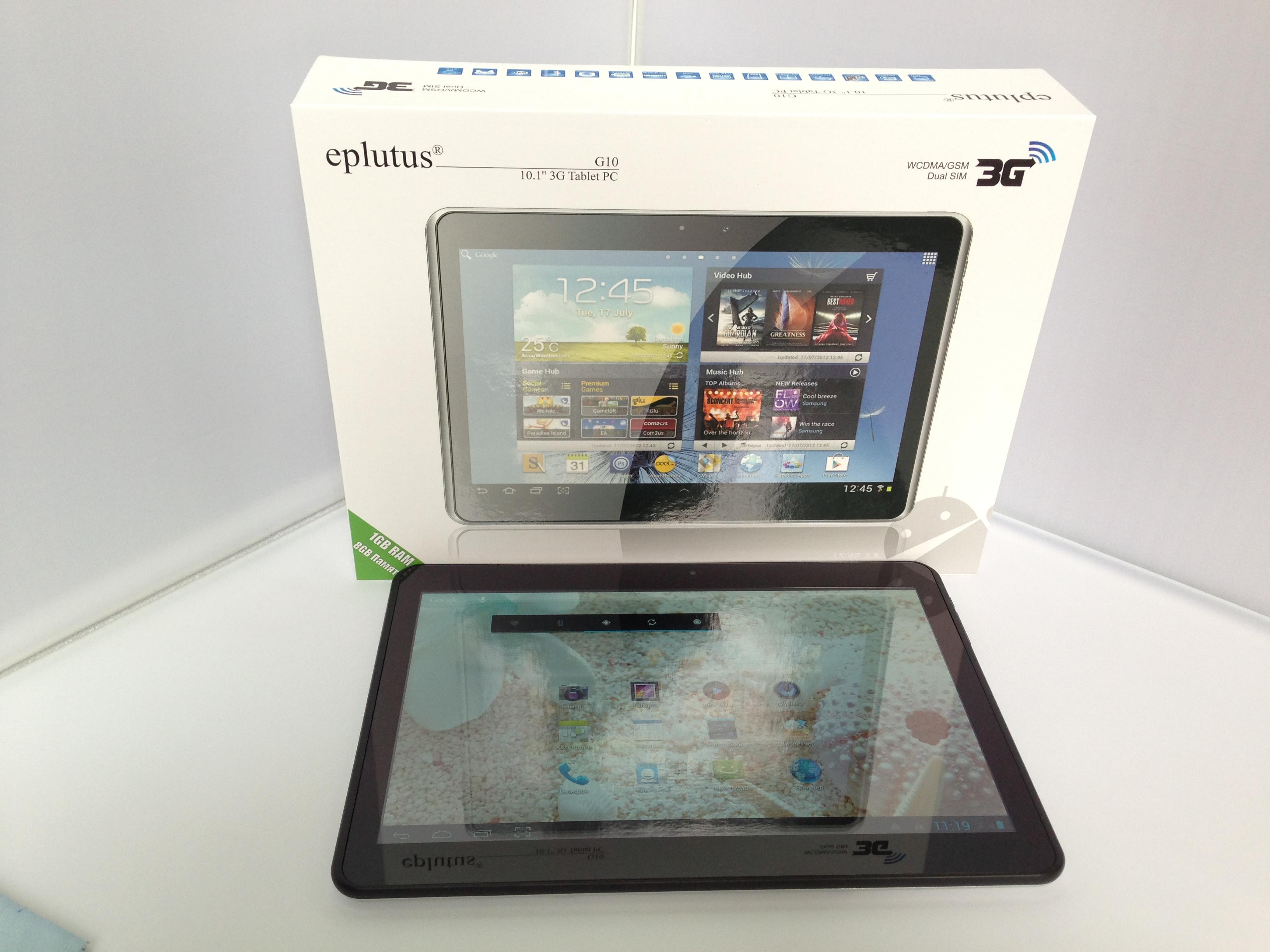 инструкцию для планшета eplutus g10s